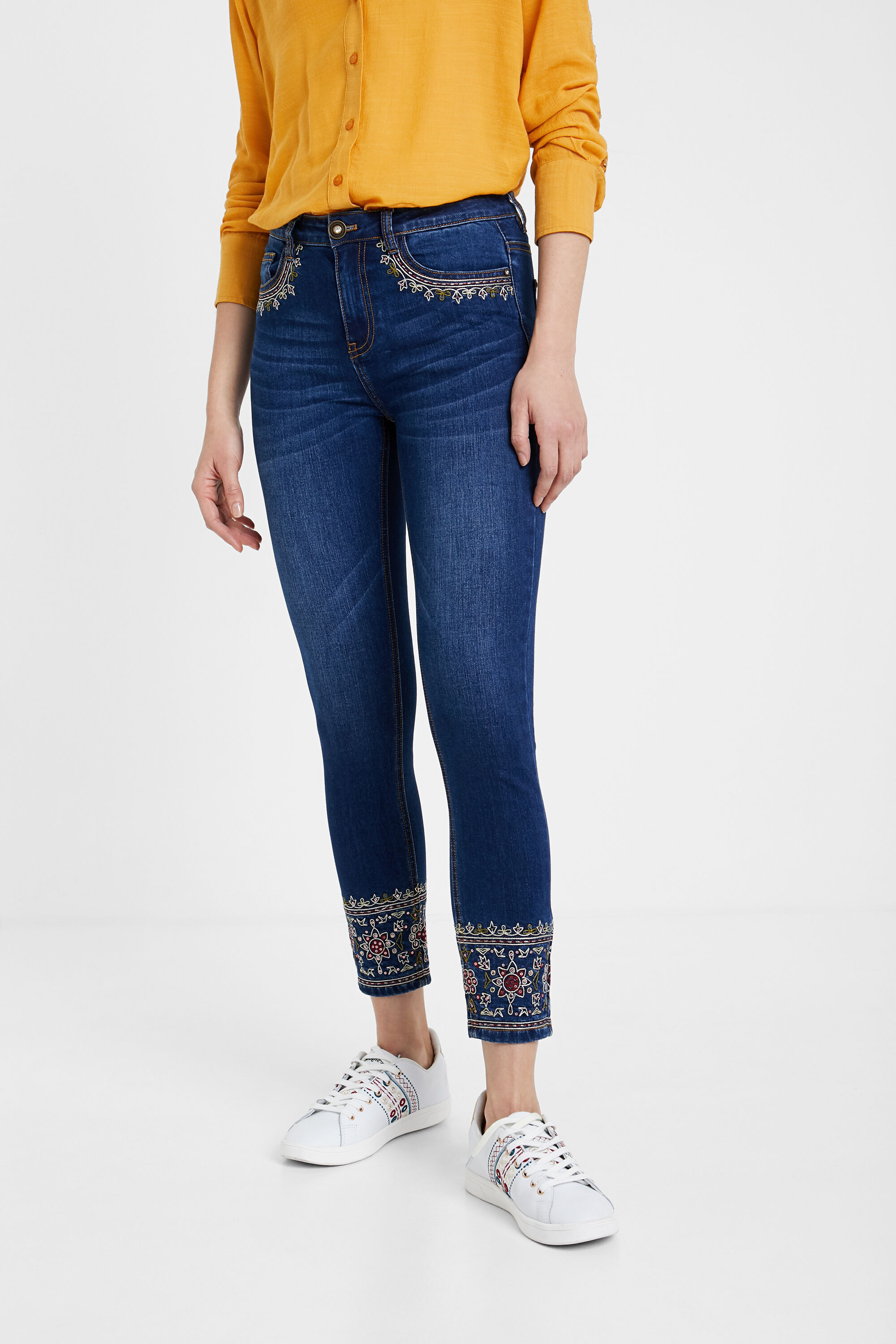 Skinny exotic jeans - BLUE - 30