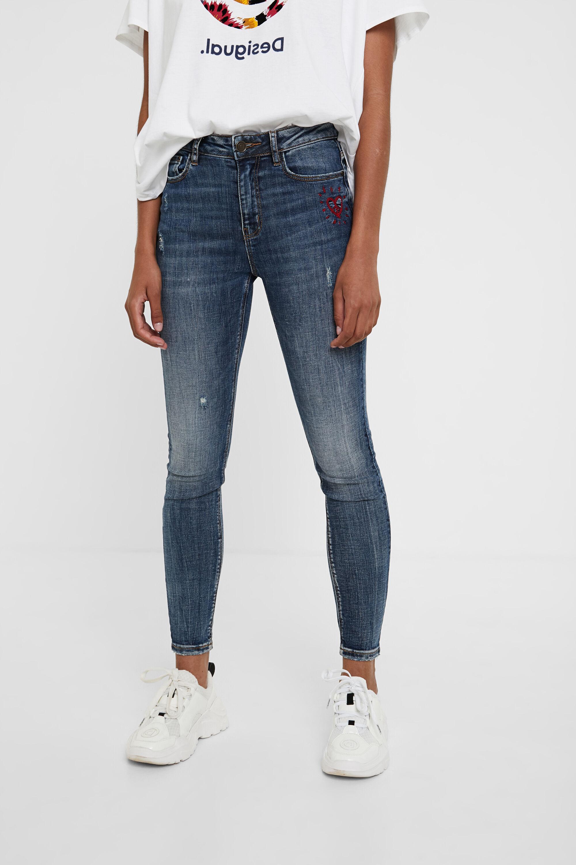 Skinny heart jeans - BLUE - 30