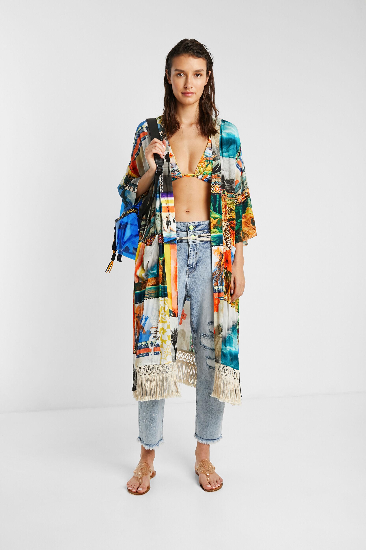 Milieuvriendelijke Hawaïaanse kimono – MATERIAL FINISHES – S
