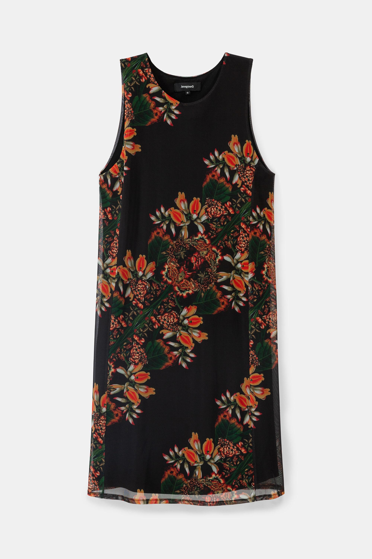 Floral dress - BLACK - L