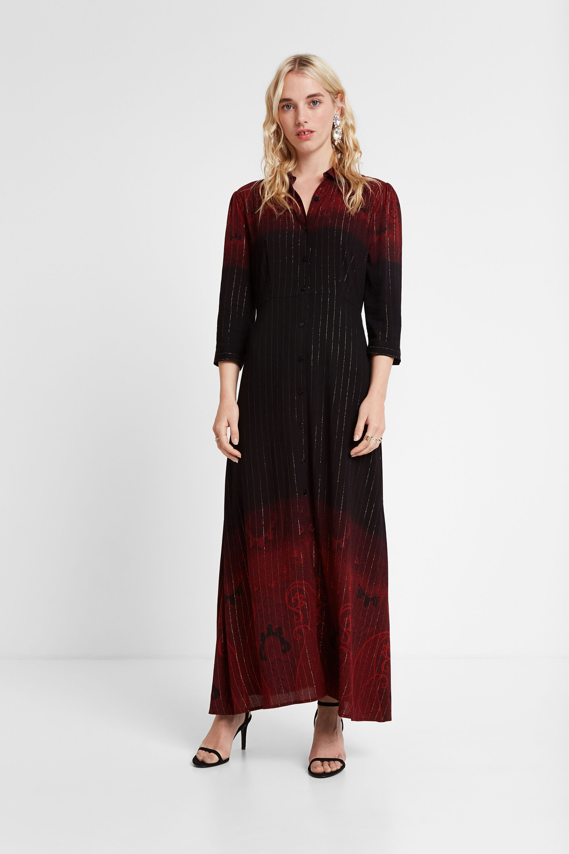 Robe chemise longue - BROWN - 44