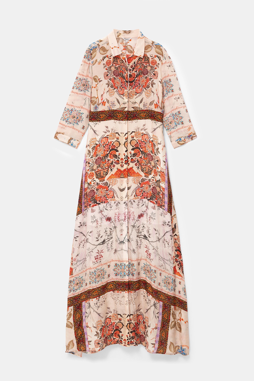 Long boho floral dress - WHITE - 38