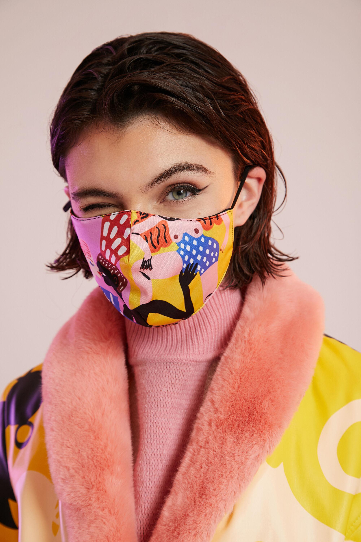 Miranda Makaroff Face Mask + pouch - YELLOW - U