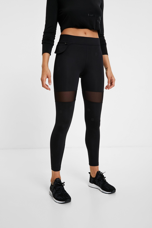 Hosen - Leggings im Slim Fit mit Bauchtasche BLACK S  - Onlineshop Desigual