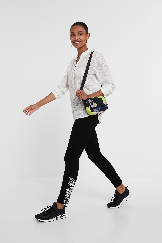 Hosen - Leggings Slim Fit Blumenmuster BLACK M  - Onlineshop Desigual