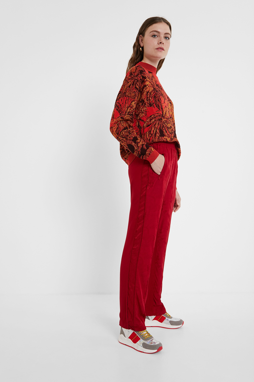 Hosen - Sporthose aus Jacquard RED L  - Onlineshop Desigual