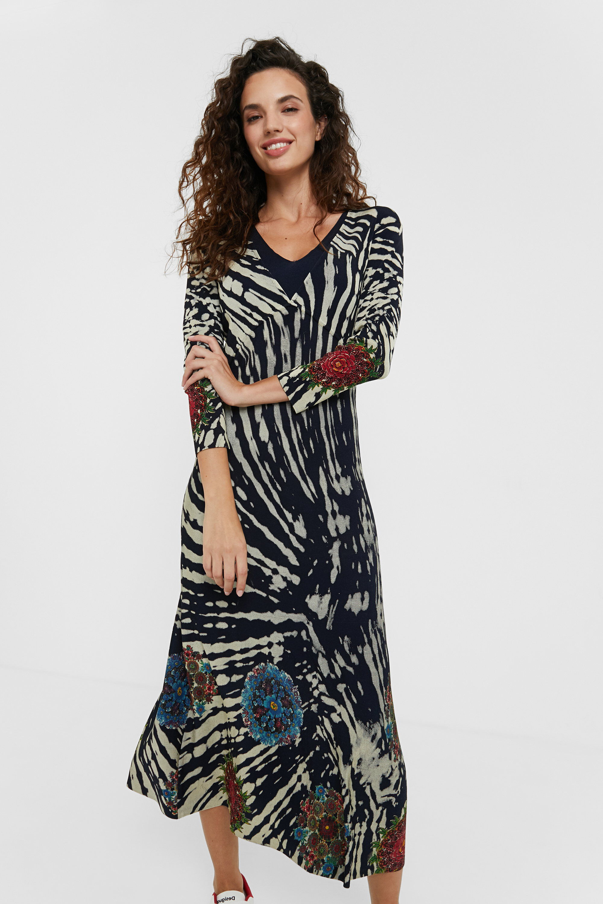 Tie-dye dress mandalas - BLUE - M