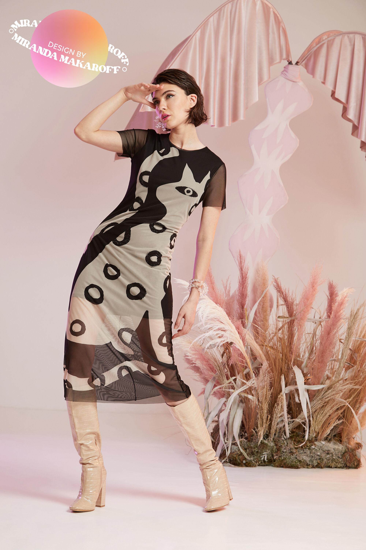 Long semitransparent dress - BLACK - L