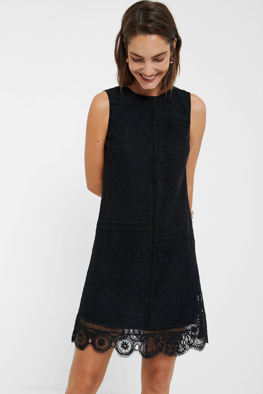 Robe dentelle sans manches - BLACK - L
