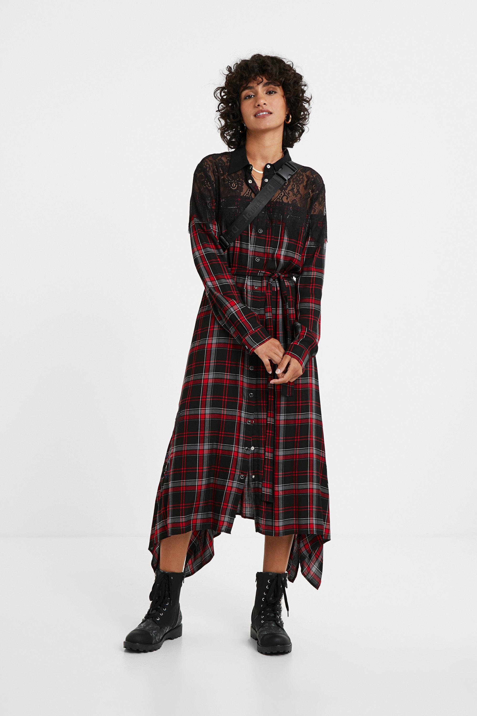 Robe chemise tartan - BLACK - L