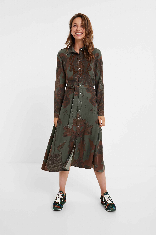 Robe longue tencel - GREEN - L