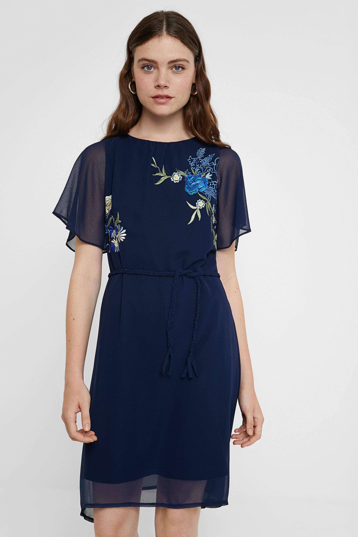 Robe évasée fleurie - BLUE - L