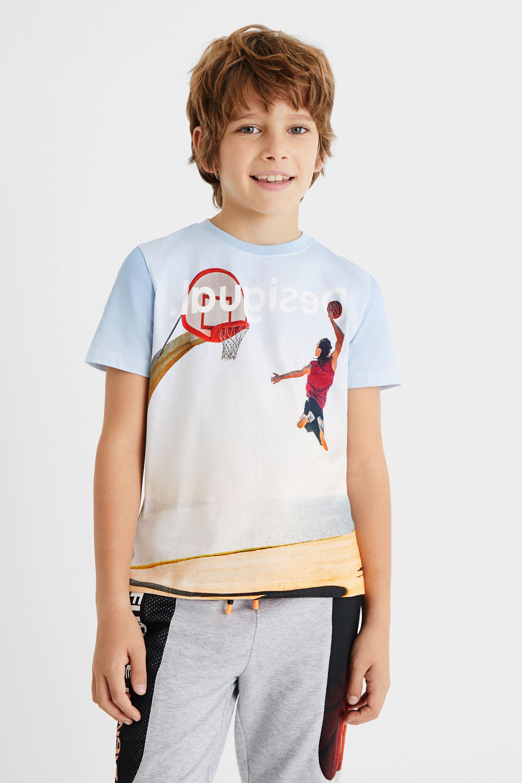 T-shirt basket ball 100% coton - BLUE - 11/12 - Desigual - Modalova