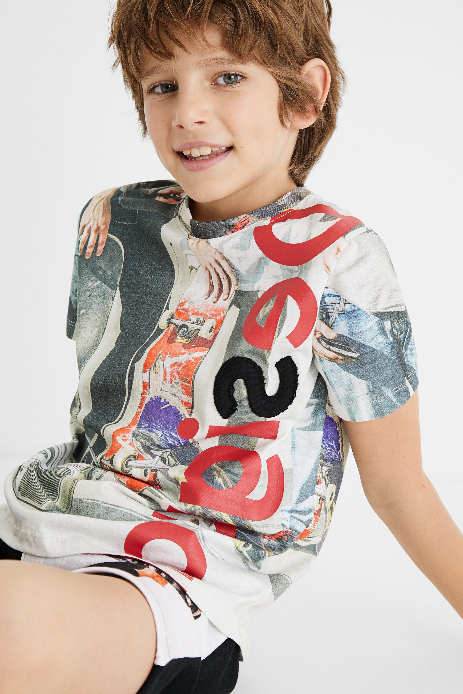 100% cotton T-shirt skate - WHITE - 11/12
