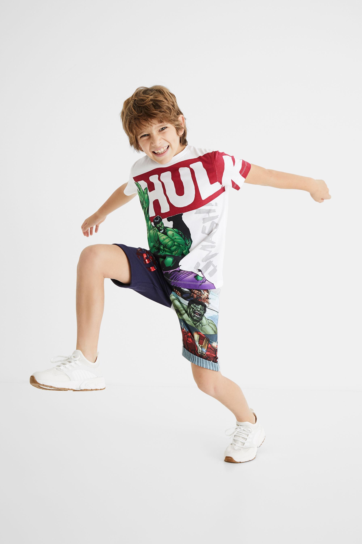100% cotton Hulk T-shirt - WHITE - 5/6
