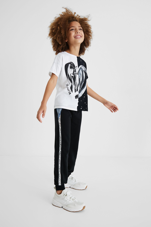 Pantalon jogging bi-matière - BLACK - 5/6 - Desigual - Modalova
