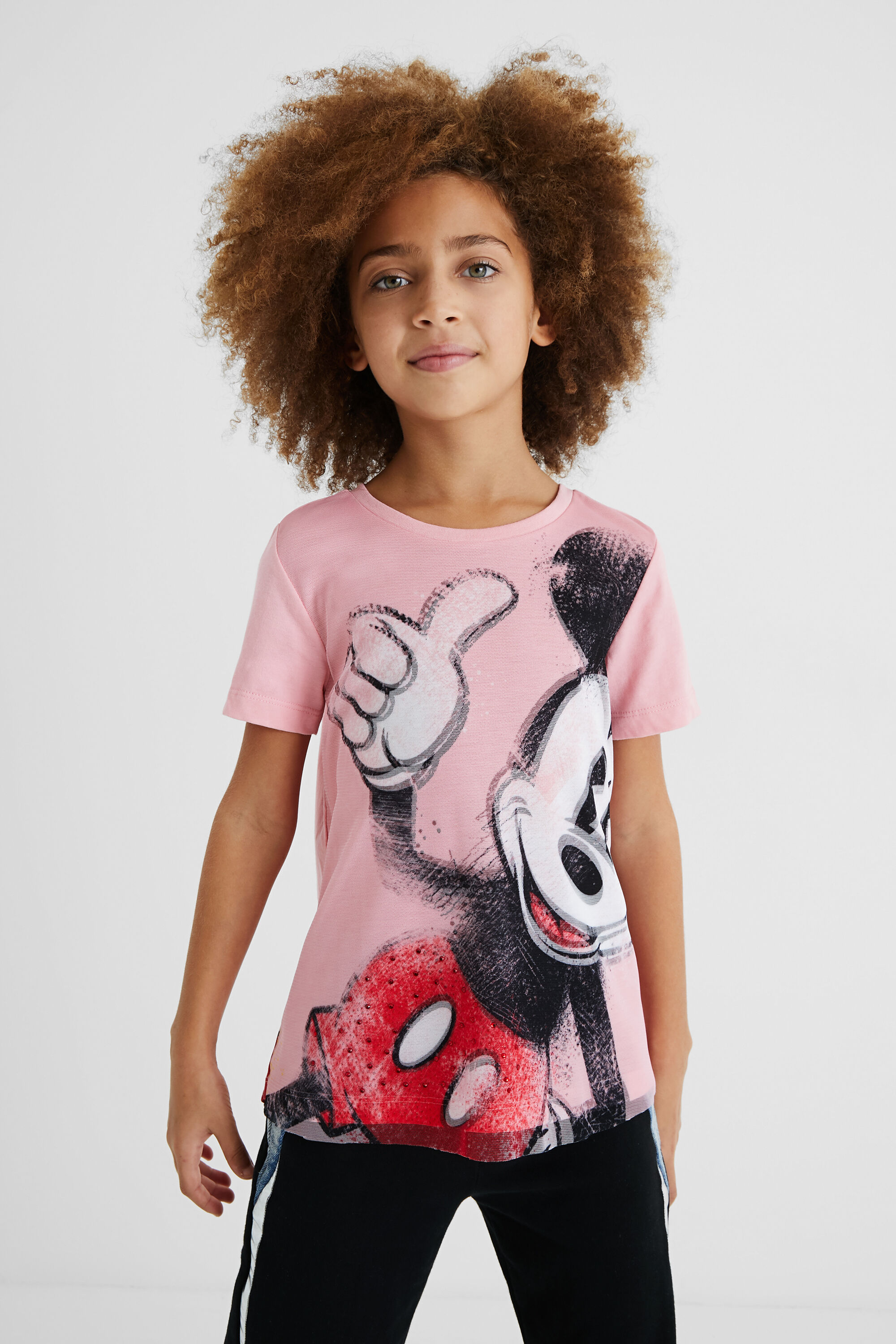 Mickey Mouse T-shirt - RED - 3/4
