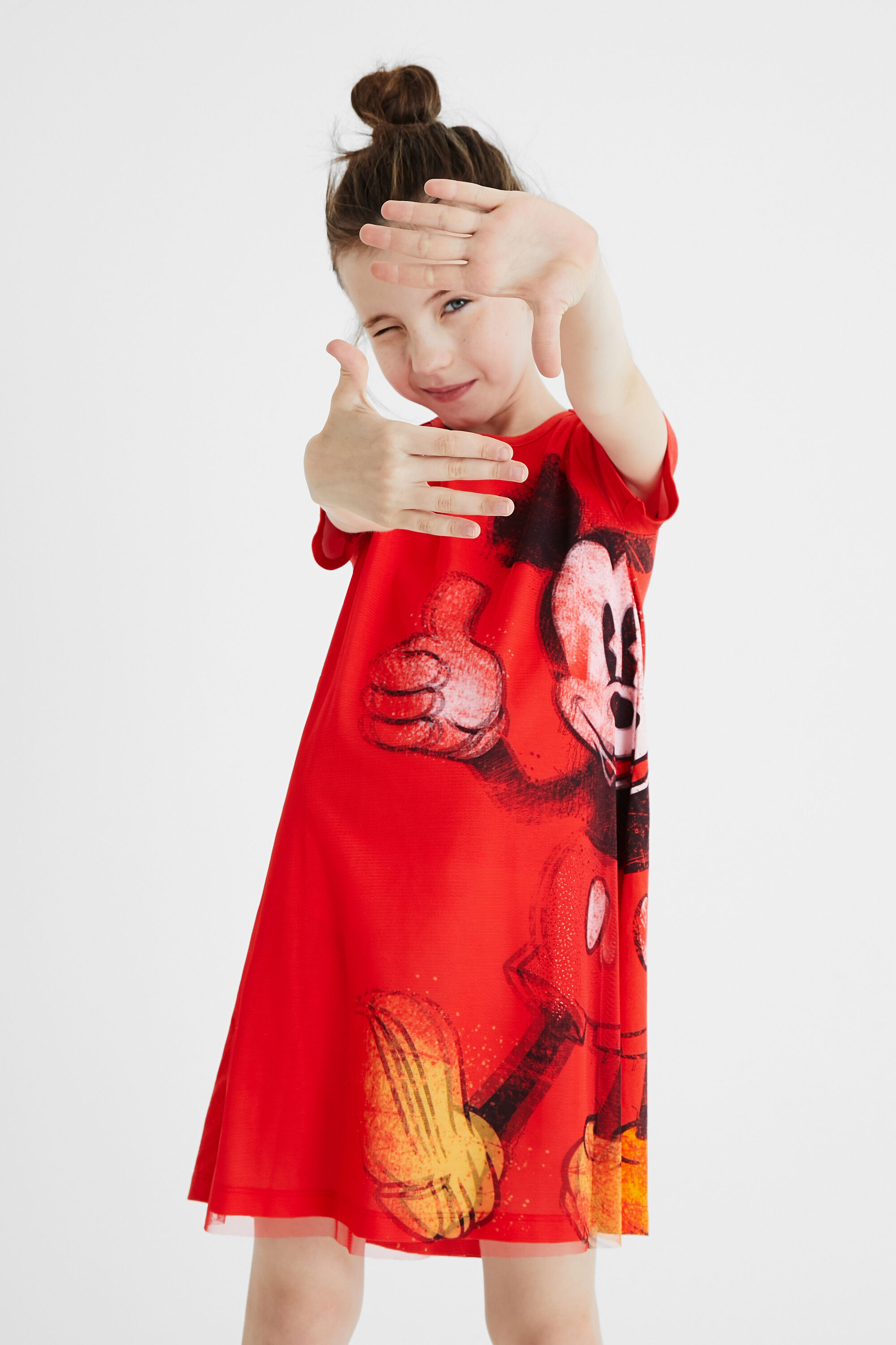Mickey Mouse T-shirt dress - RED - 13/14