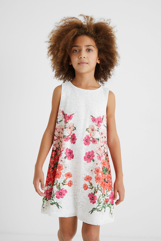 Short dress Swiss embroidery - WHITE - 11/12