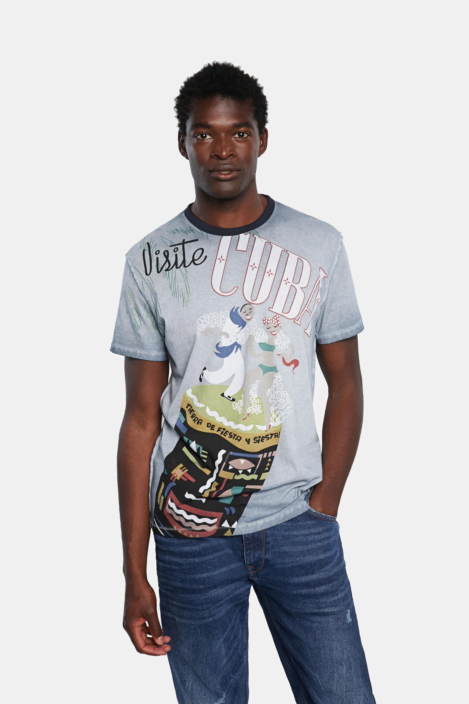 Basic cotton T-shirt Cuba - BLUE - XXL