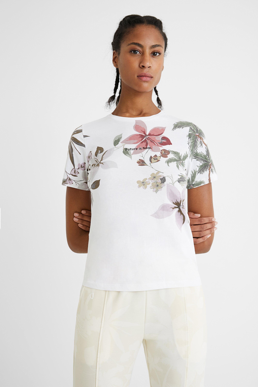 Slim cotton T-shirt - WHITE - S