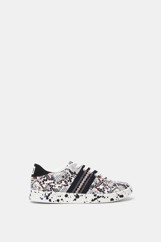 Sneakers snakeskin effect - BLACK - 40