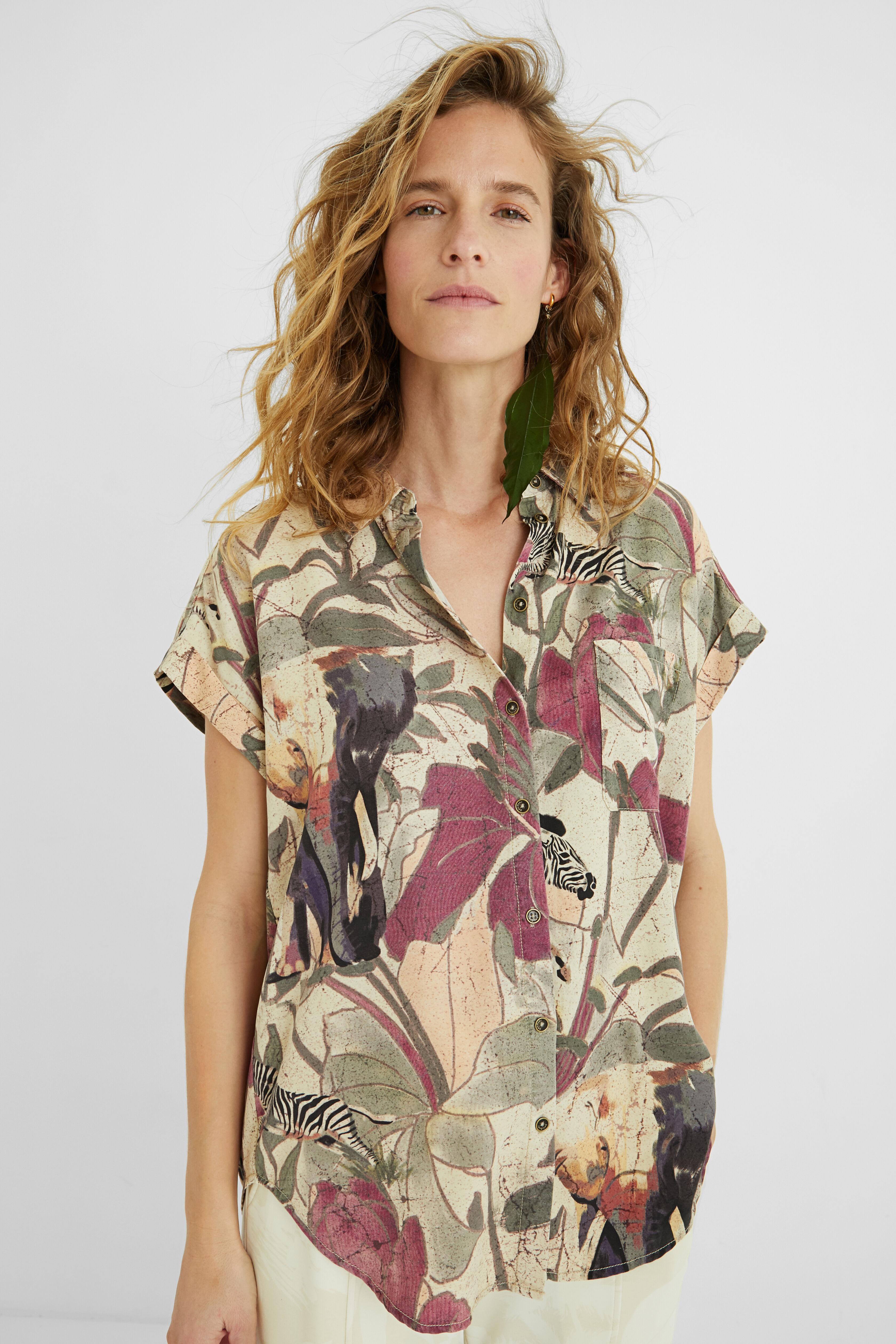 Tencel shirt safari - WHITE - XXL