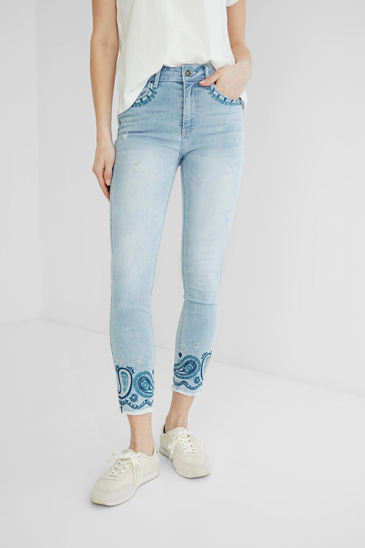 Pantalon en jean skinny chevilles - BLUE - 34 - Desigual - Modalova