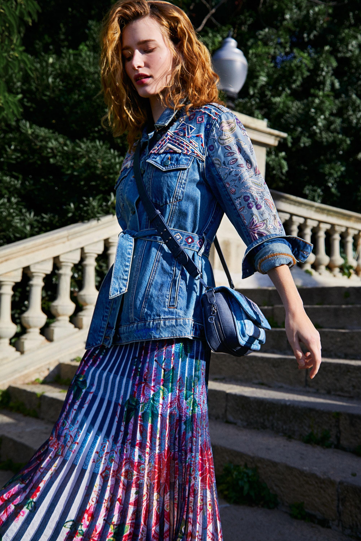 Veste en jean droite ceinture - BLUE - S
