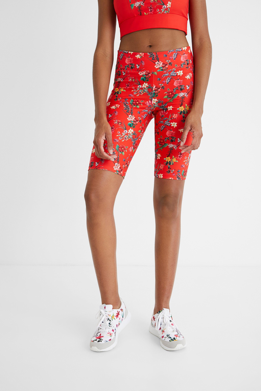 Hosen - Radler Leggings Blumen RED S  - Onlineshop Desigual