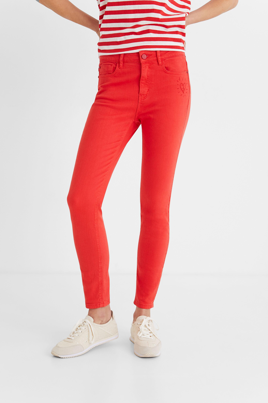 Hosen - Skinny Jeans knöchellang RED 36  - Onlineshop Desigual