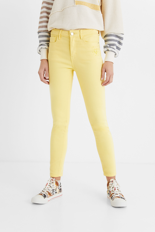 Hosen - Skinny Jeans knöchellang YELLOW 36  - Onlineshop Desigual