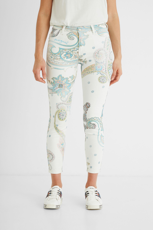 Hosen - Skinny Jeans knöchellang WHITE 36  - Onlineshop Desigual