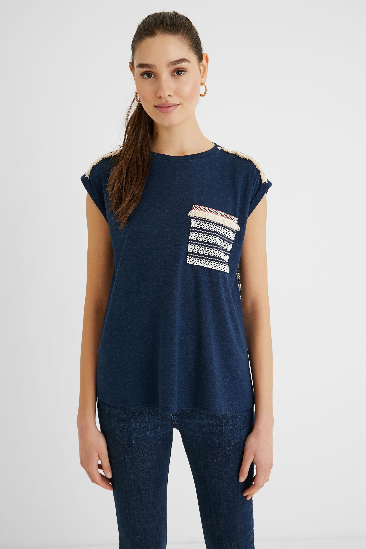 T-shirt back mesh - BLUE - XL