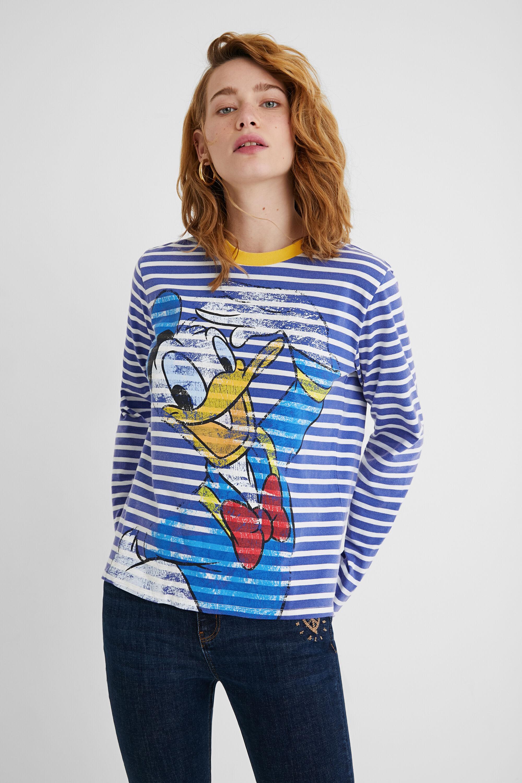 Donald Duck striped T-shirt - BLUE - S
