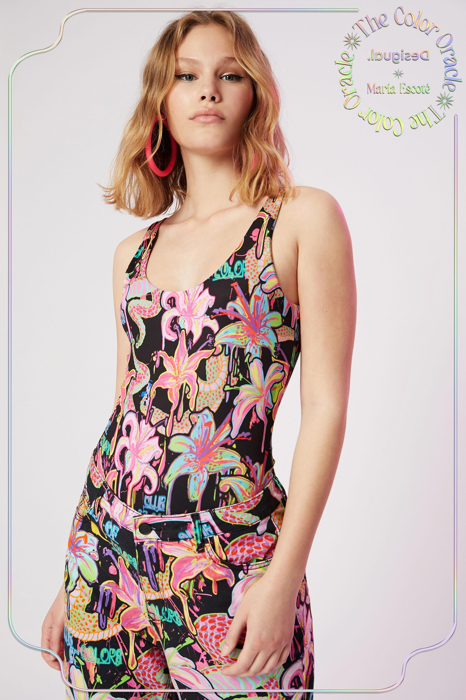Bodysuit floral print - BLACK - L