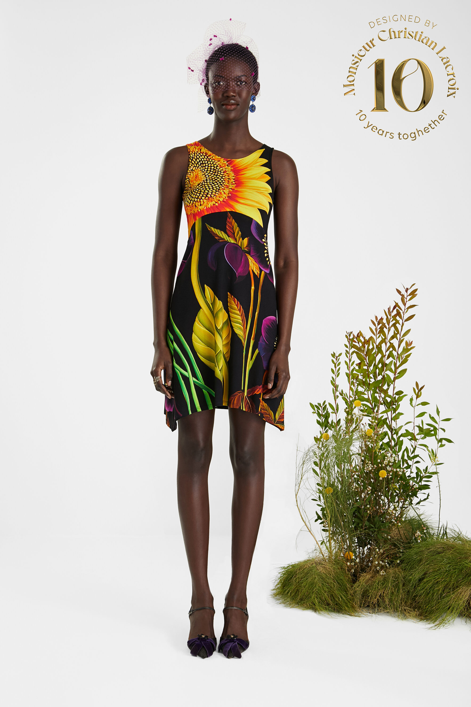 Sleeveless dress pleasant touch - BLACK - S