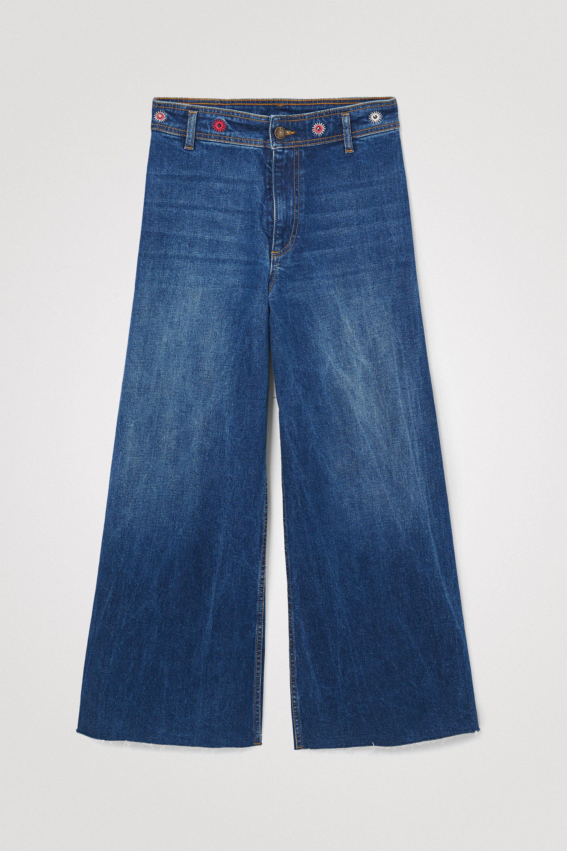 Pantalon en jean chevilles jambe large - BLUE - 34 - Desigual - Modalova