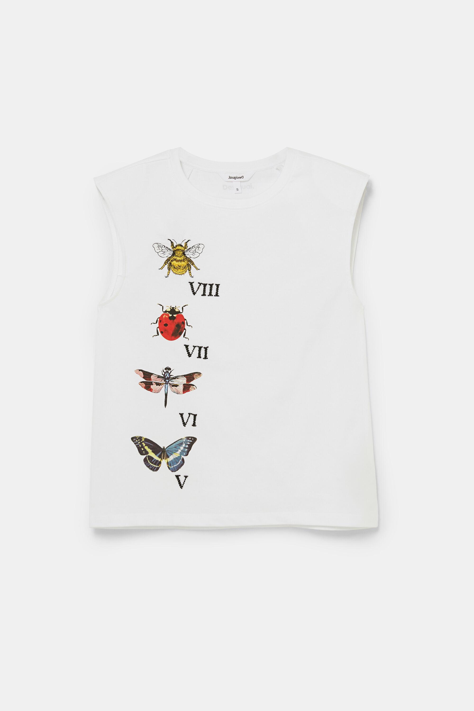 Sleeveless cotton T-shirt - WHITE - M