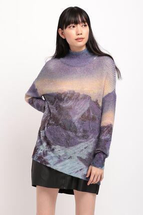 ロングニットセーター