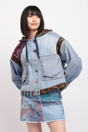 オーバーサイズ デニムフードジャケット