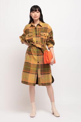 タータンチェック ロングコート
