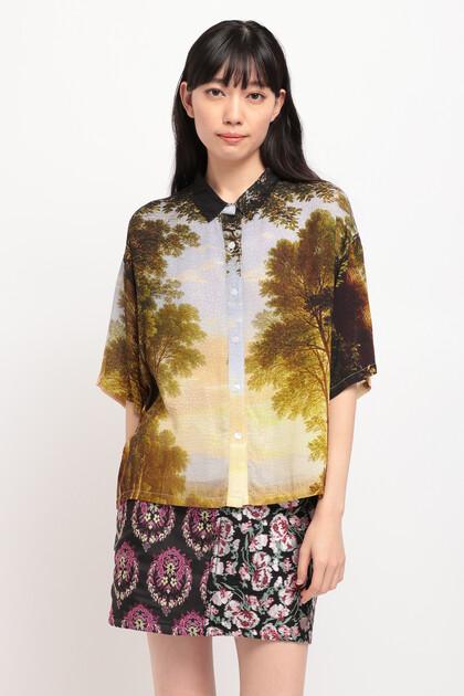 デジタルプリント ショートシャツ