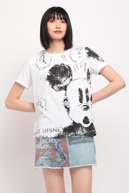 100%コットン ミッキーマウスTシャツ