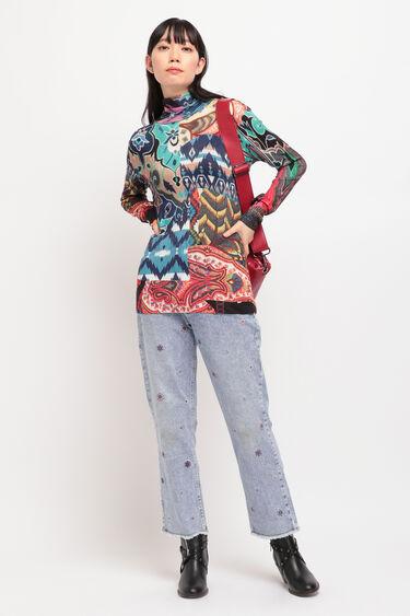 曼荼羅模様 ストレートアンクルジーンズ | Desigual