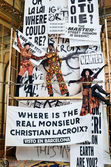 Conçu par M. Christian Lacroix